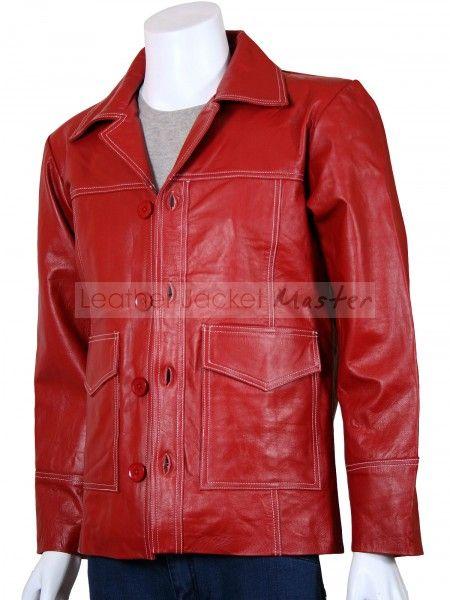 Veste cuir rouge fight club