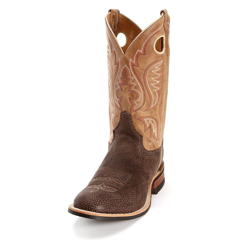 a53f2e5c41b Justin Bent Rail Burnished Bison Cowboy Boots | Cowboy Boots for Men ...