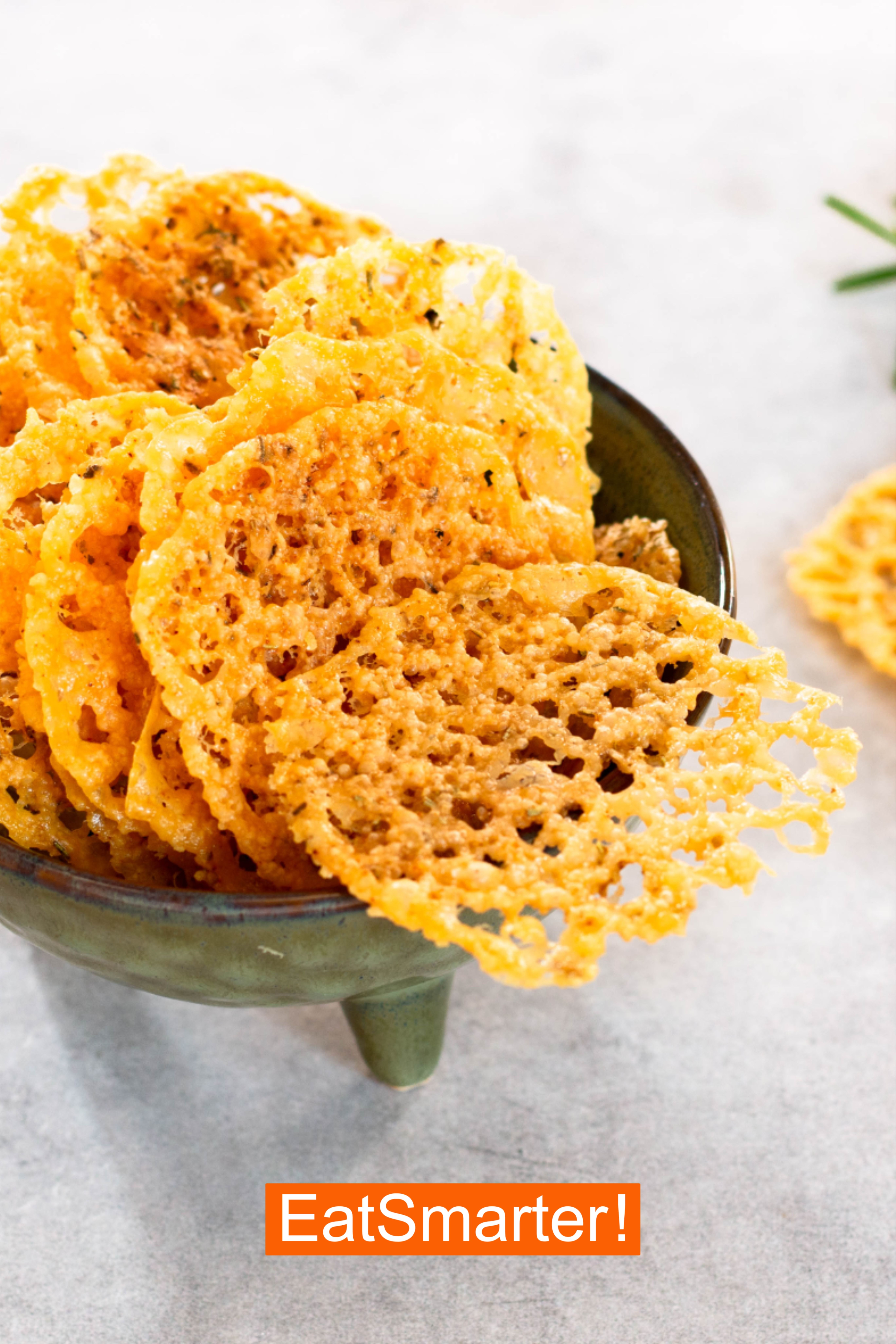 Photo of Low carb parmesan chips with herbs and peppers