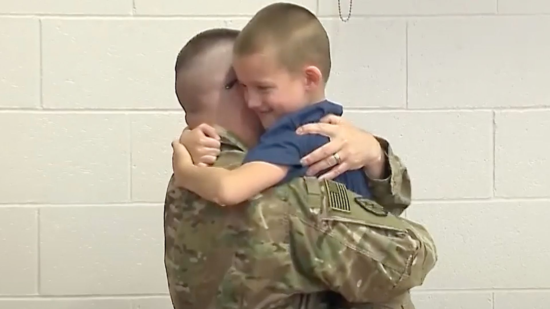 This Military Dad Gave His Son the Surprise of a Lifetime: After leading the school in the pledge of allegiance, this second grader was surprised by the arrival of his military dad.