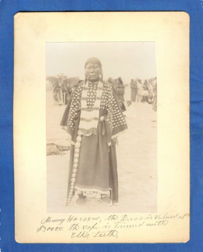 1891 Pine Ridge LAKOTA Indian w Elk's Teeth Cape