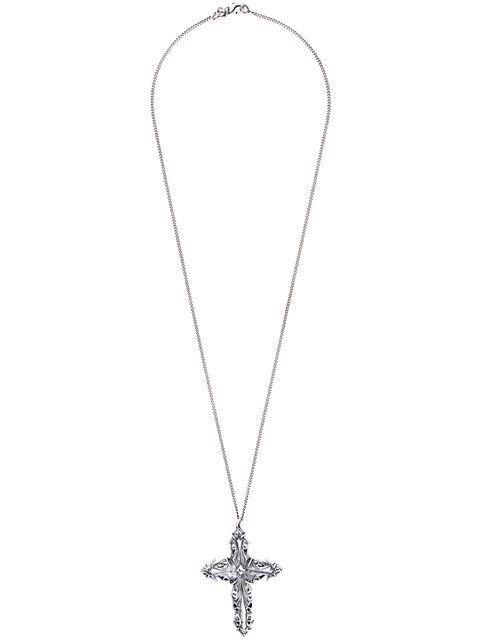 Emanuele Bicocchi cross pendant necklace - Metallic eOw06xiYhG