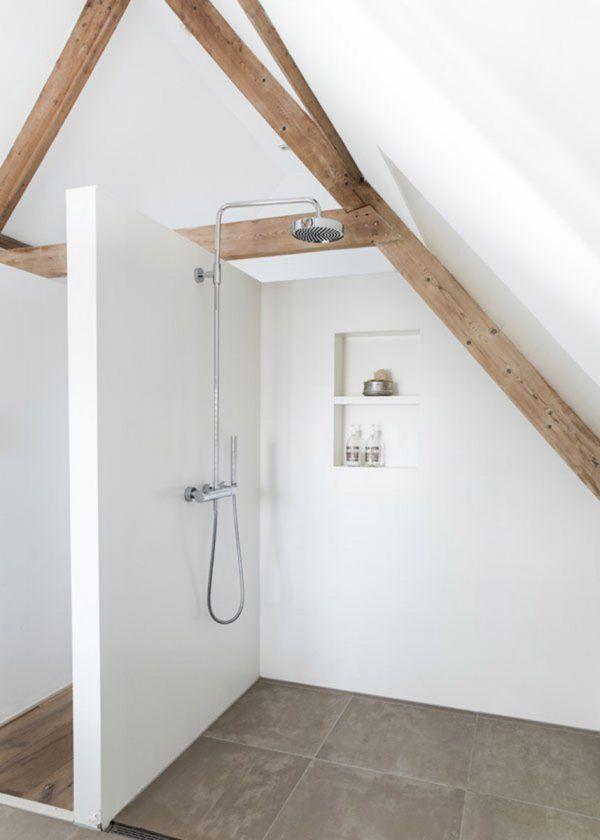 quel rev tement murs et sols pour une douche italienne poutres douches et italien. Black Bedroom Furniture Sets. Home Design Ideas