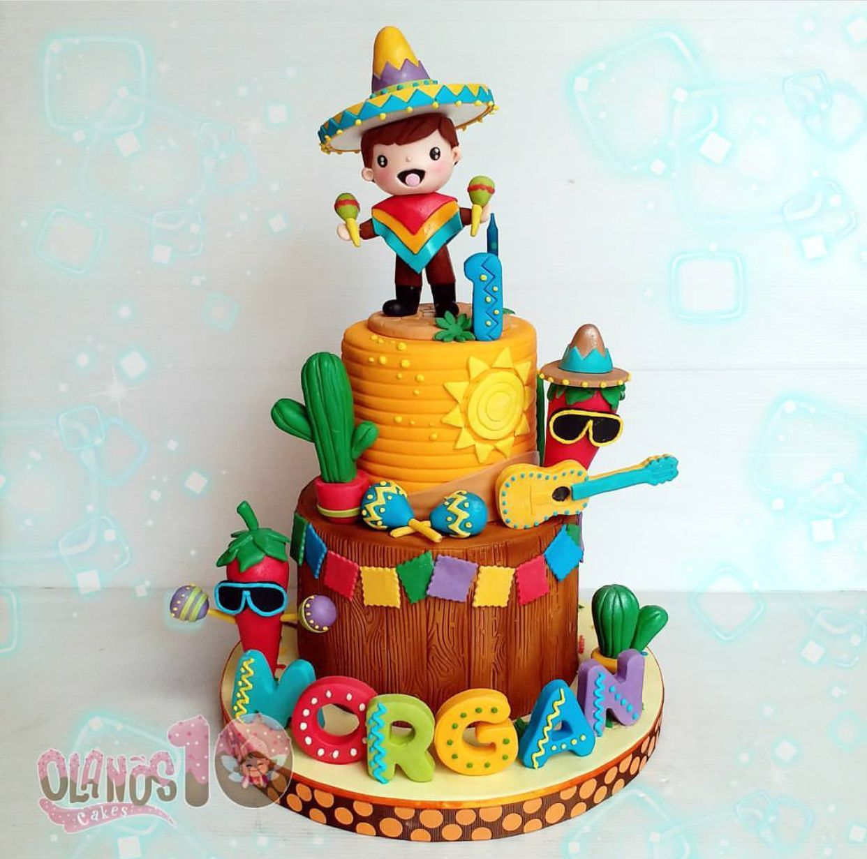 Birthday Cake With Images Mexican Birthday Parties Fiesta