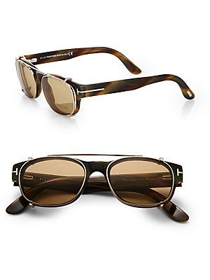51821ed1f111 Tom Ford Eyewear Optical Glasses Clip-On Lenses