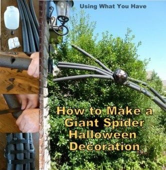 simple and cheap how to make a giant spider halloween decoration - Giant Halloween Decorations
