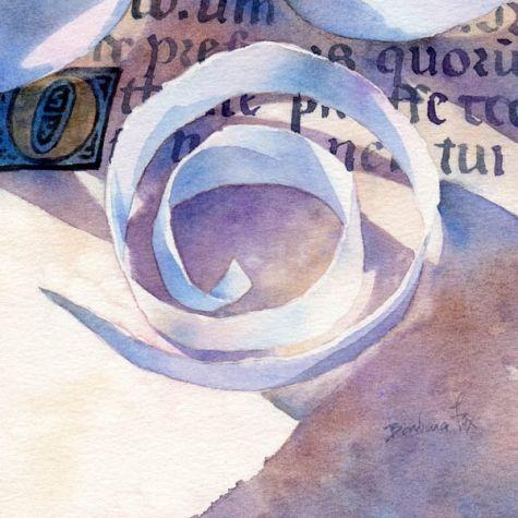 Acuarela BRILLANTE PEAR la naturaleza muerta, la pintura original por el artista Barbara Fox   DailyPainters.com