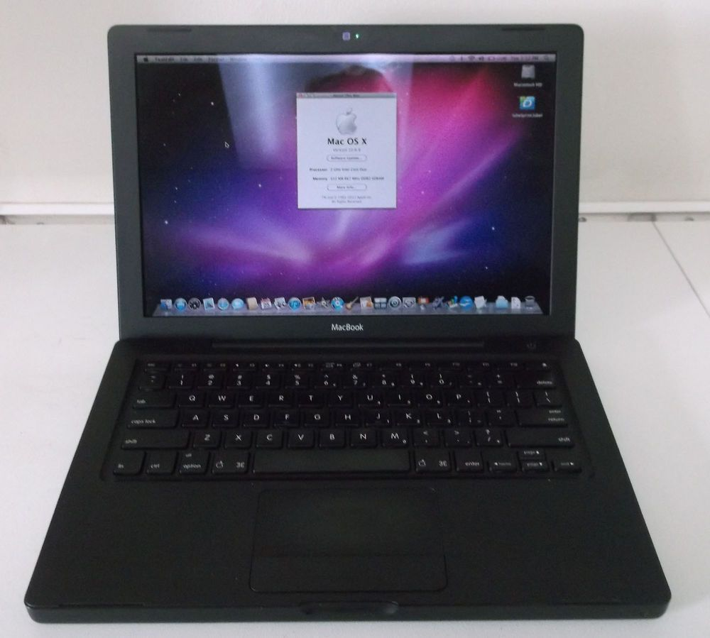 Apple Black Macbook Core Duo A1181 2006 2 0ghz 1gb Ram Ma472ll A 80 Gb Hdd Used Top Electronics Electronics Store Macbook