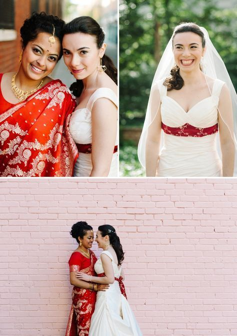 Yana & Archita | Jewish-Hindu-Indian-Russian multicultural lesbian wedding at Trust, Philadelphia, Pennsylvania, USA - Smashing the Glass | Jewish Wedding Blog