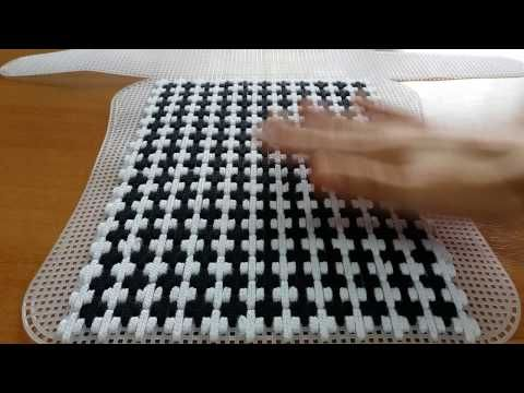 Cómo hacer alfombras usando una malla plástica | DIY La