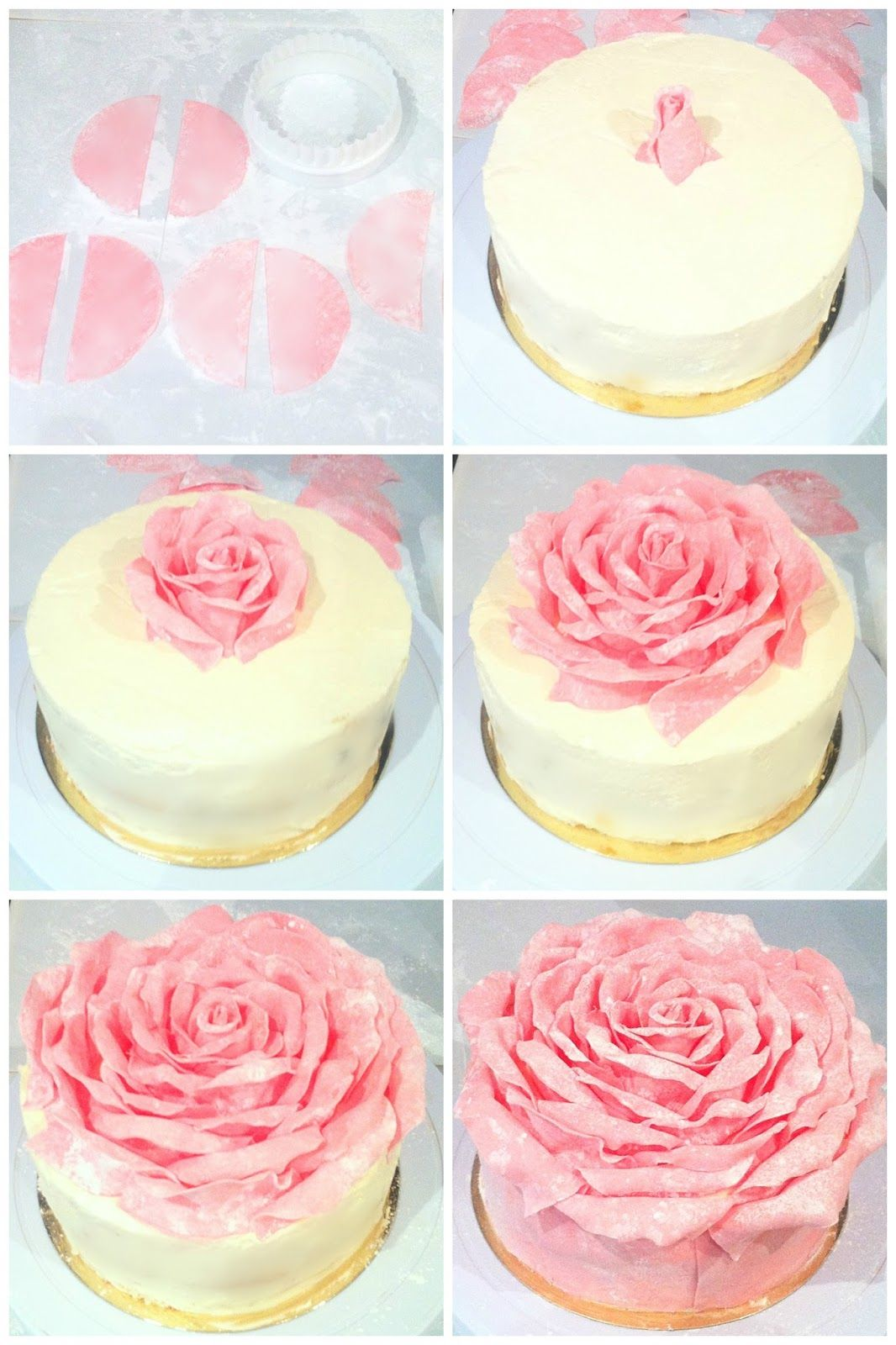 Cherie Kelly S Strawberry Chocolate Rose Petal Cake Icing On