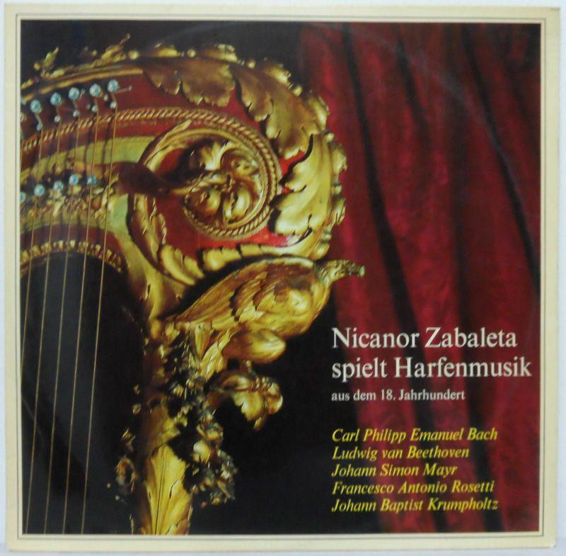 Details About Nicanor Zabaleta 18th Century Harp Music Lp Bach