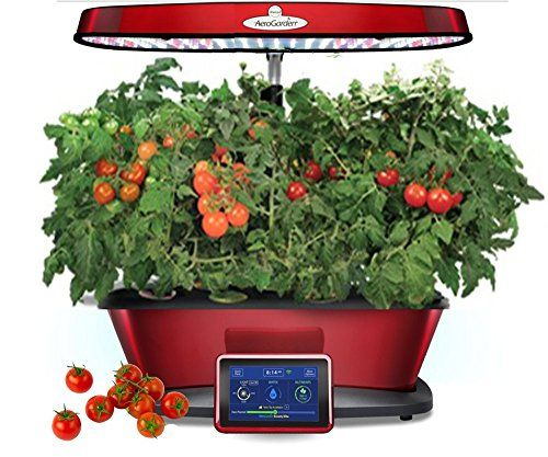 Aerogarden Bounty Elite Red Stainless Indoor Garden With 400 x 300