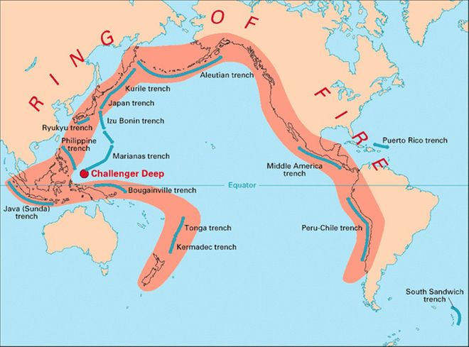 What Is a Subduction Zone? Geology - copy world map with ocean trenches