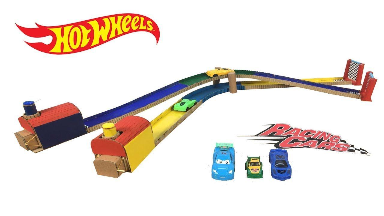 Circuito Hot Wheels : Diy hot wheels race track car from cardboard hot wheels launcher