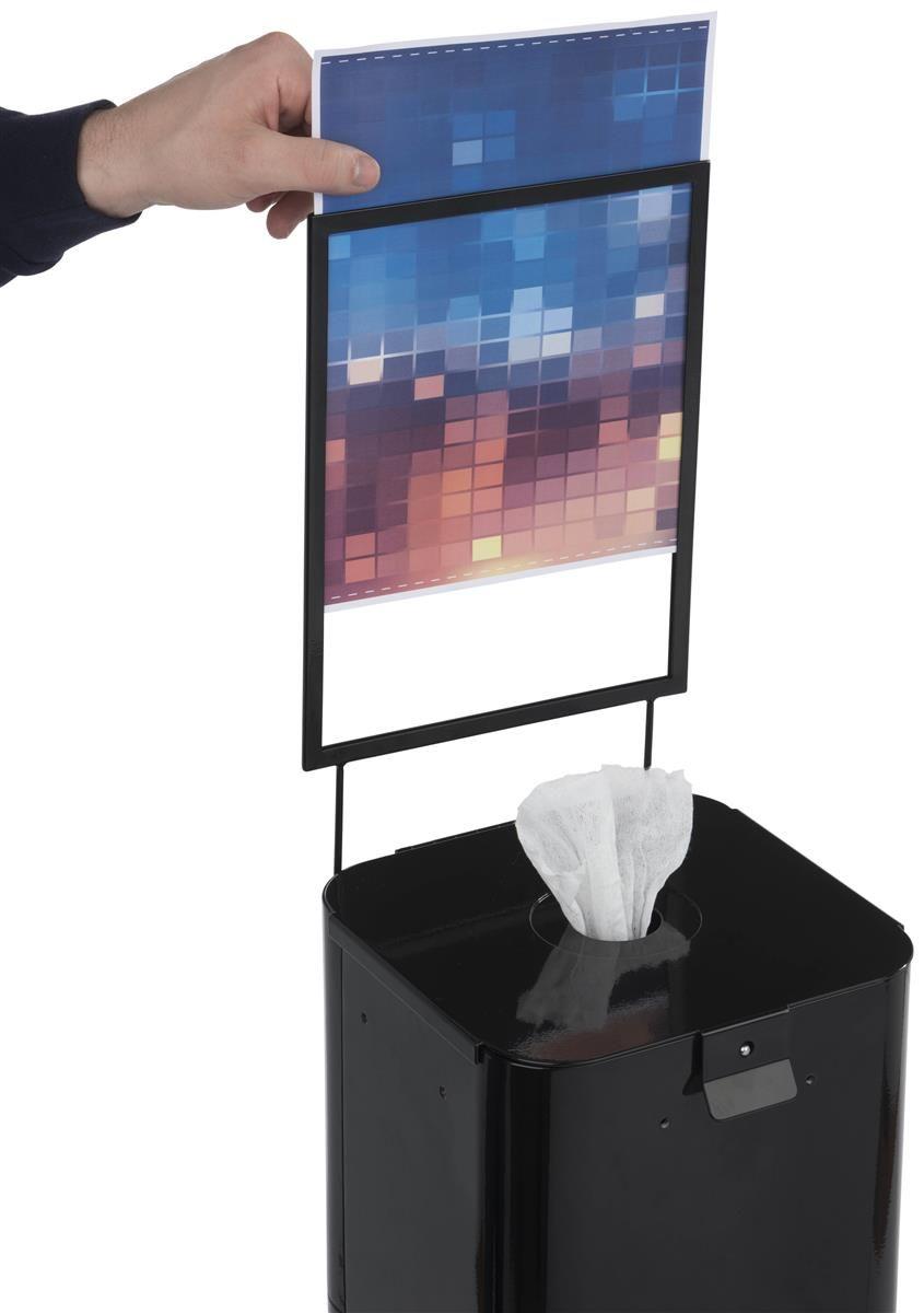 Hand Sanitizer Wipes Dispenser 8 5 X 11 Sign Frame 2 Trash Bins