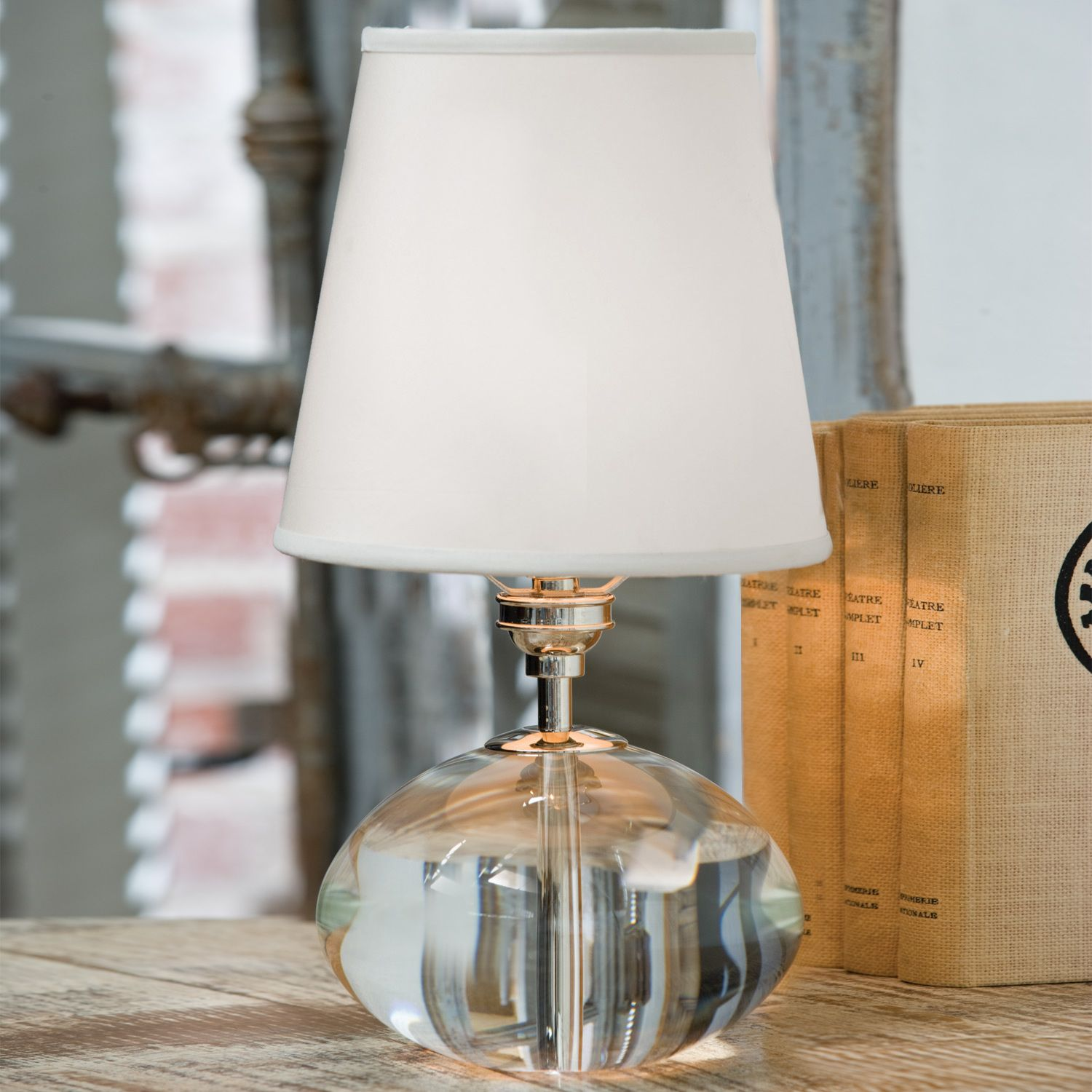 Regina Andrew Lighting Crystal Oval Mini Table Lamp @Laylagrayce