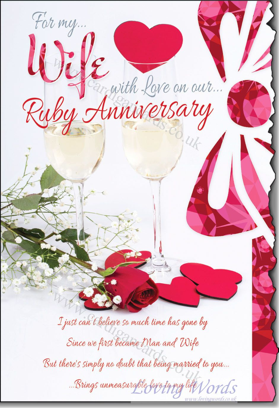 wife ru anniversary greeting cards loving words