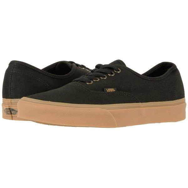 Vans Authentic ((Light Gum) Black) Skate Shoes ( 50) ❤ liked on ... b873206f5