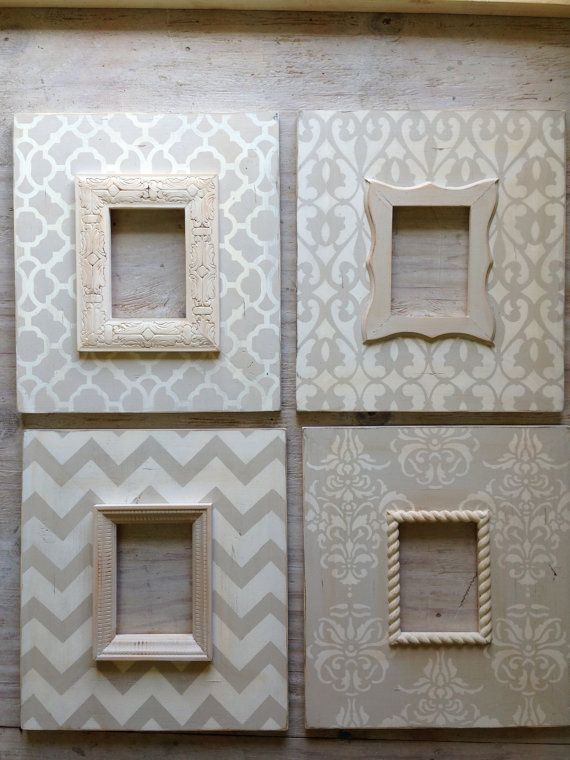 Set of 45x7 Distressed Wood Picture Frames in by deltagirlframes ...