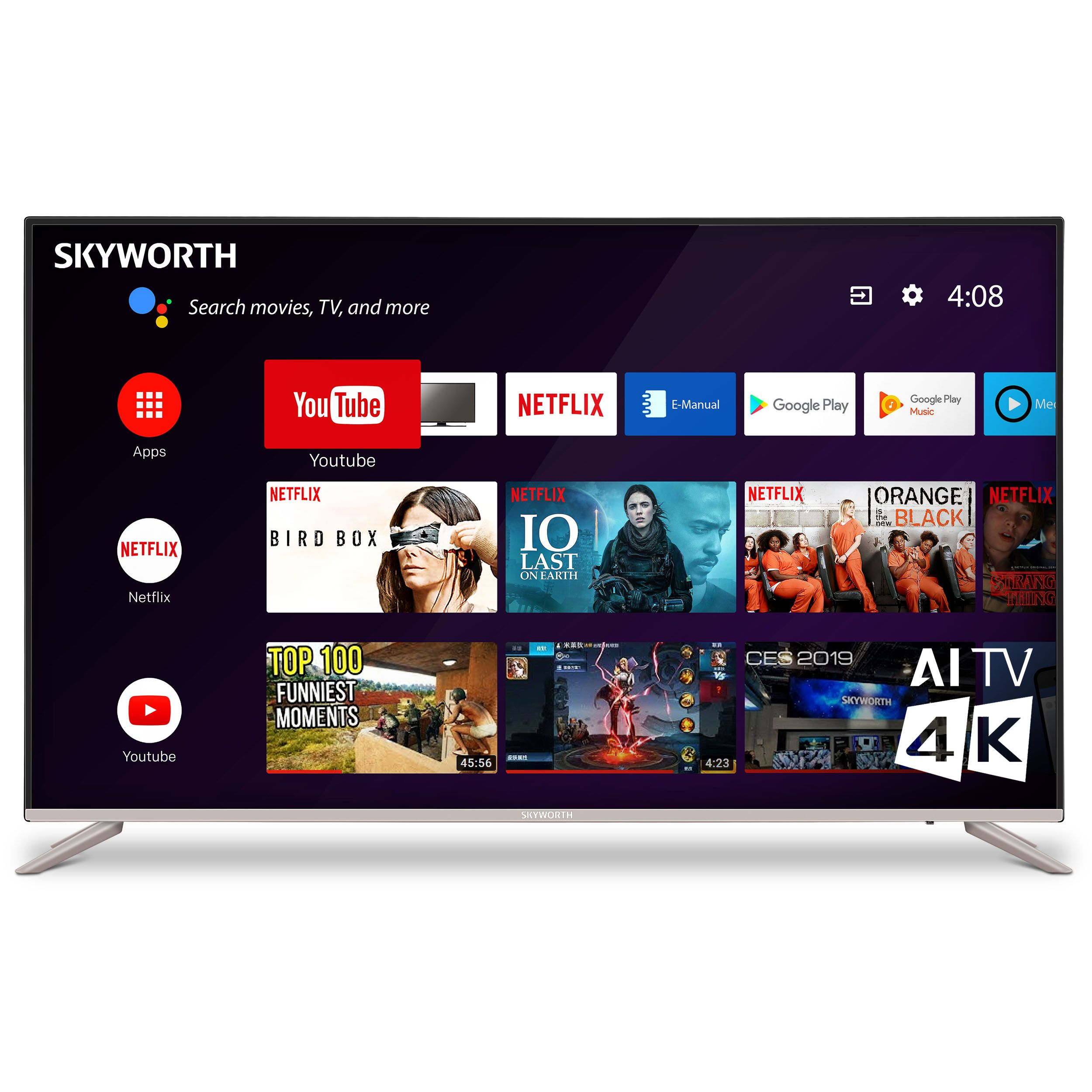 G2 Series 58 8243 4k Hdr Android Smart Led Tv 58g2a Android Tv Smart Tv Tv
