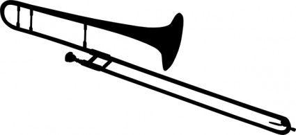Trombone Silhouette Clip Art Trombone Art Silhouette Clip Art