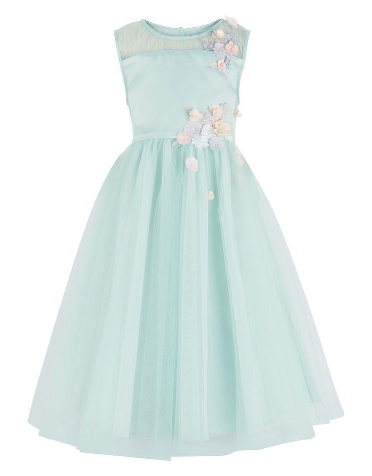 Monsoon Fallon Dress-communiejurken voor meisjes-jurk met bloemetje ...