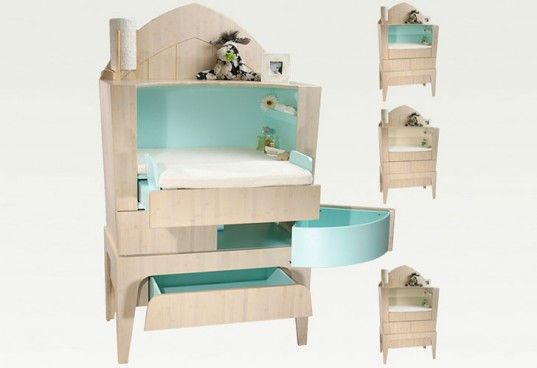 Baby Changing Table/Dresser Converts to Office Desk as Child Grows ...