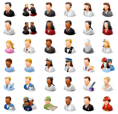 Free People Icons for ELearning Equipo