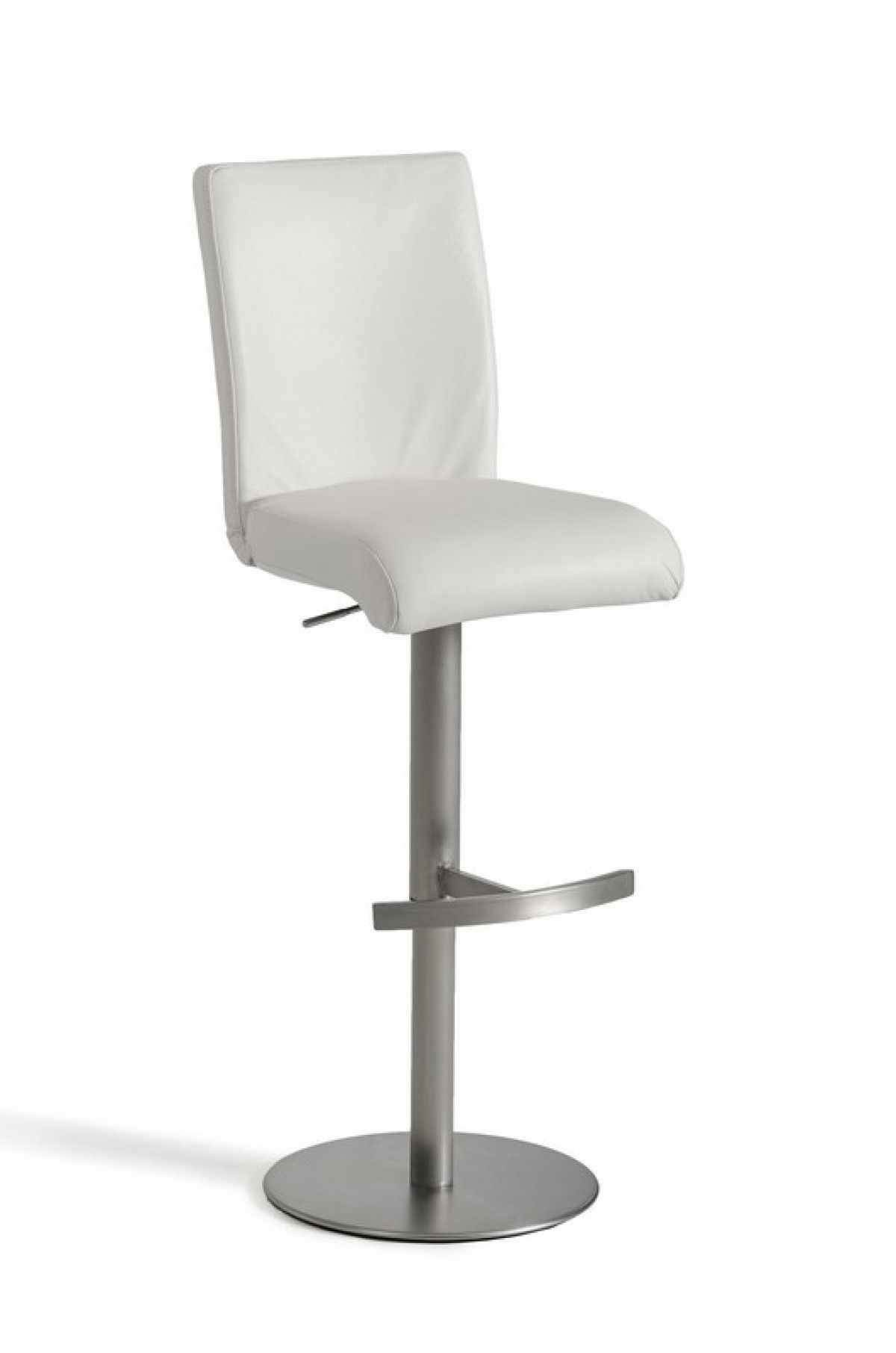 Modrest Modern White Eco Leather Bar Stool Vgcbt1206 Whtproduct 16170 Features Whiteeco Leatherstainless Steel Swivel Base Leather Bar Stools Bar Stools Stool