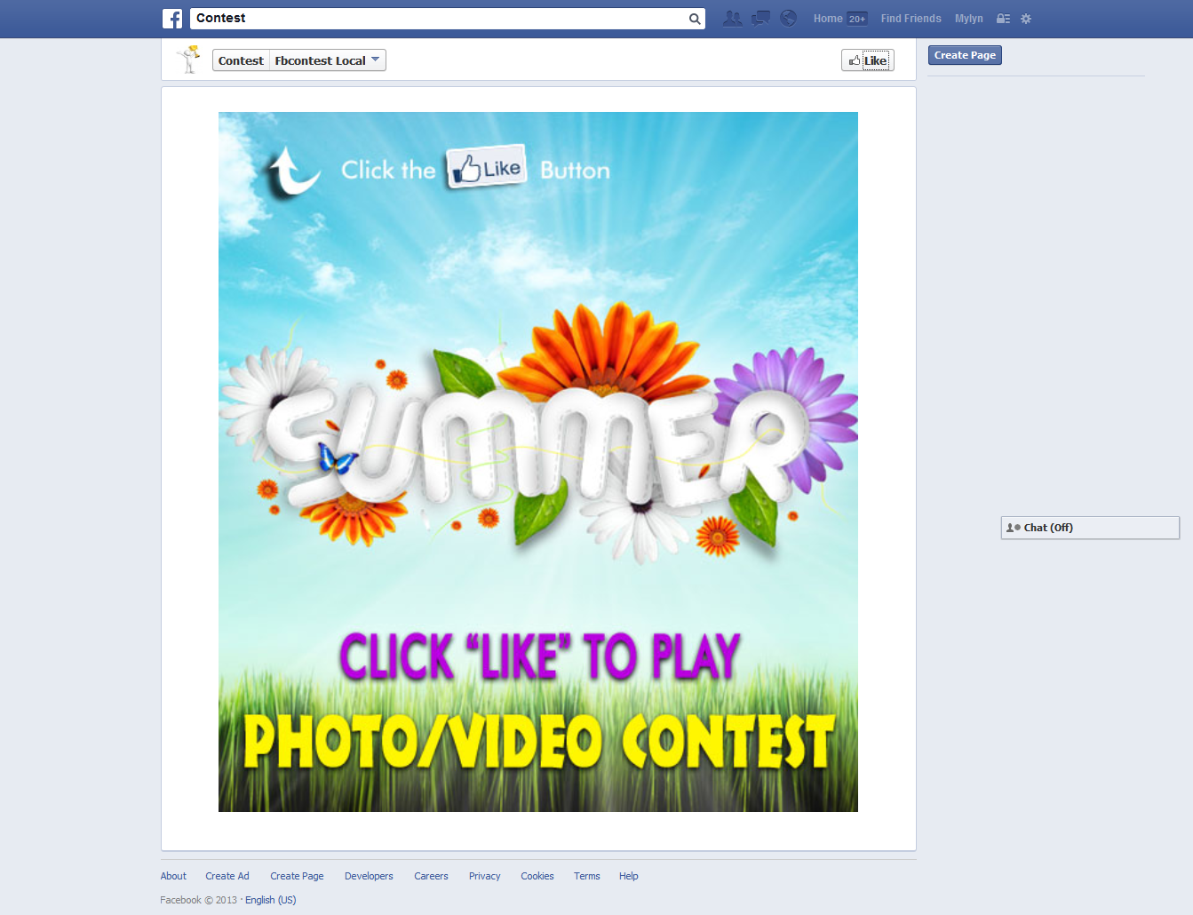 Fbcontest is a Facebook api based app, this app will allow