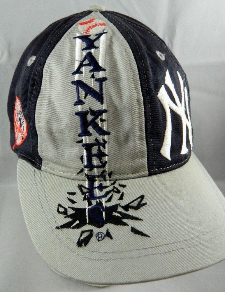151346a21 Vintage Logo7 New York YANKEES Snapback Hat MLB Baseball Ball Cap NY ...