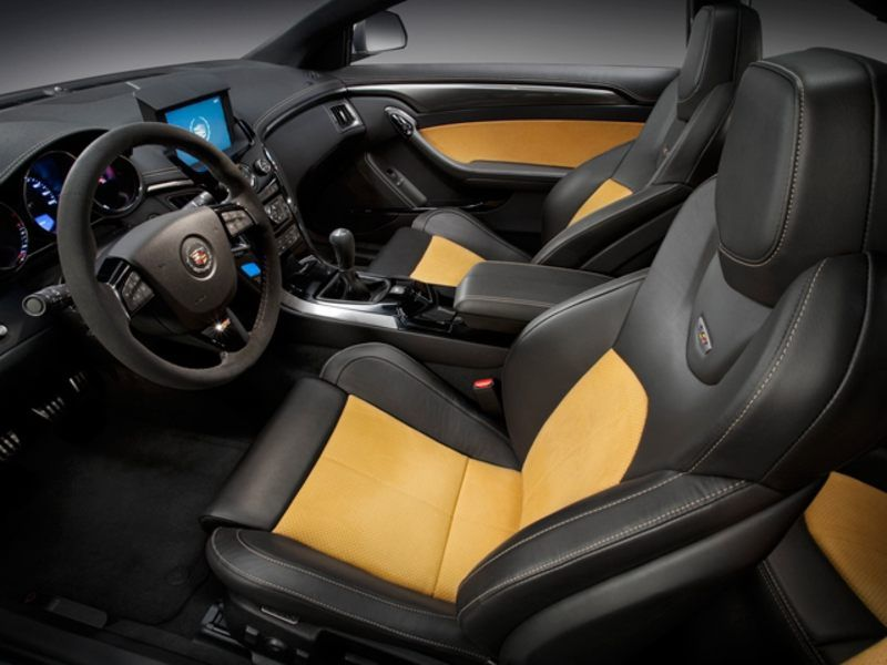 cts v coupe black and yellow interior with leather and suede my history of cars i 39 ve owned. Black Bedroom Furniture Sets. Home Design Ideas