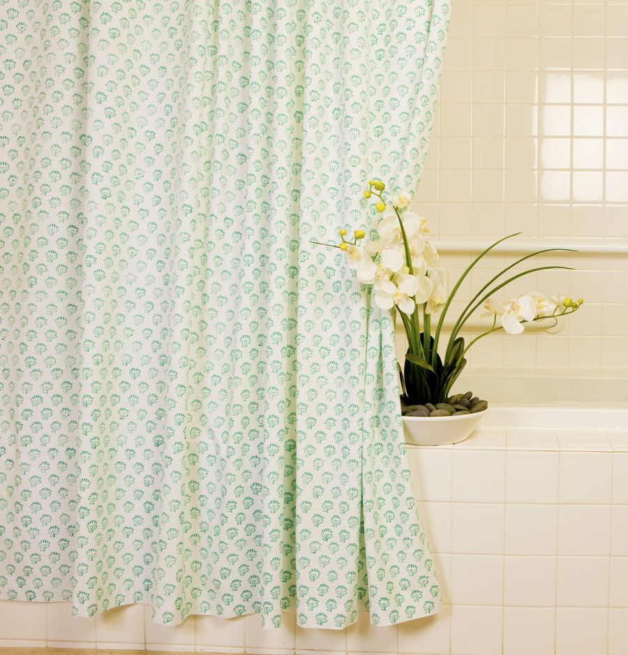 Country Style Shower Curtains Aqua Shower Curtain Hand Block - Country shower curtains for the bathroom for bathroom decor ideas