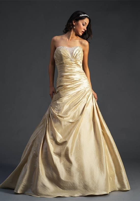 Gold Wedding Dress 2012