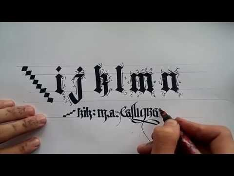 gothic calligraphy for beginners#3 - YouTube