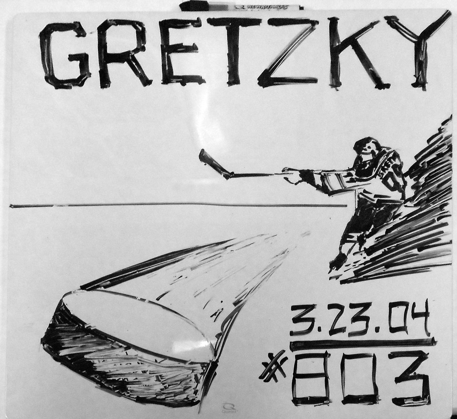 1994 - The great one, Wayne Gretzky, breaks the NHL record with 802 goals scored