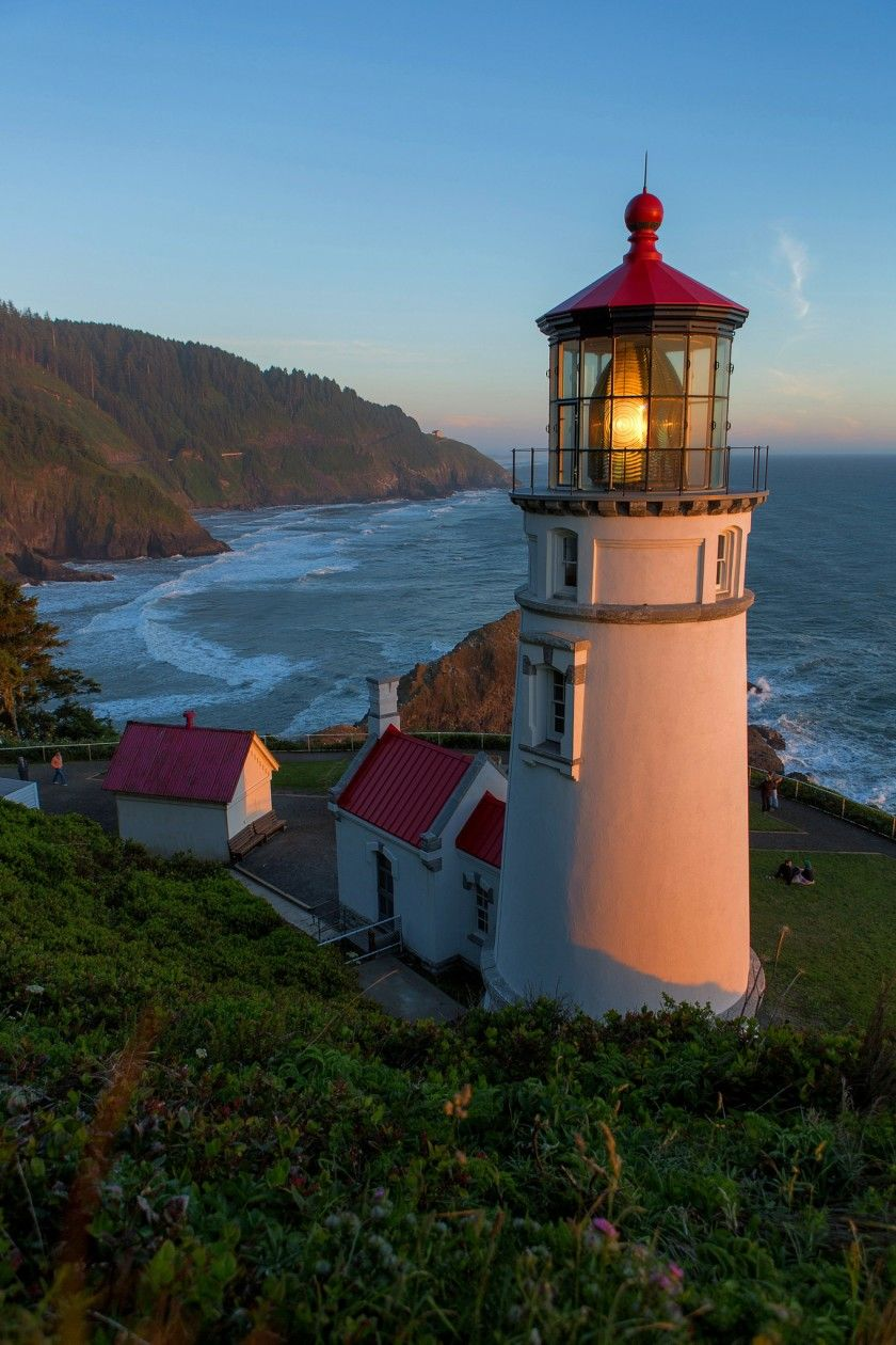 Oregon's Heceta Head Lighthouse Bed & Breakfast casts a