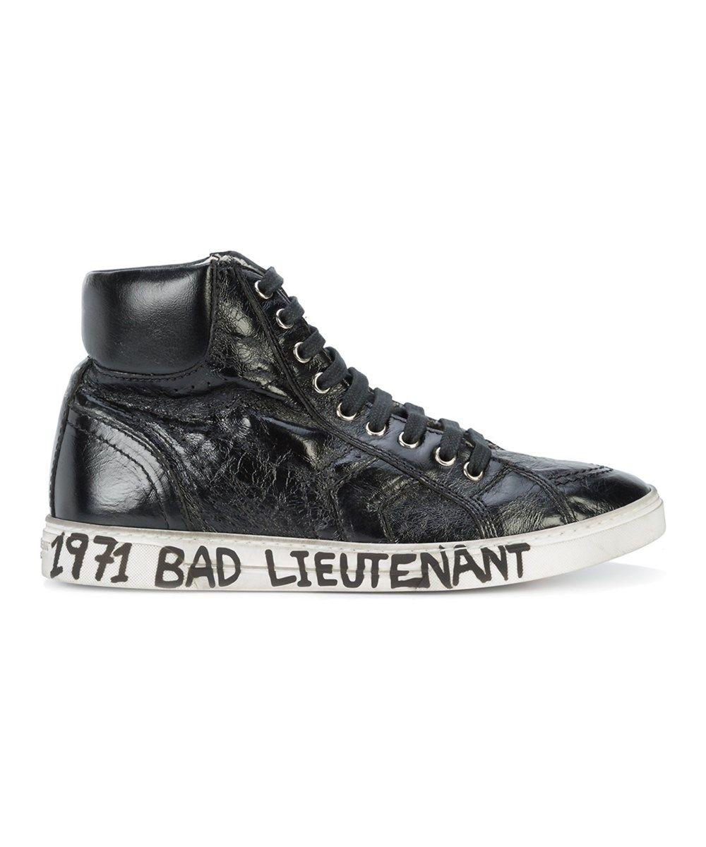 b0258be81da0 Saint Laurent Saint Laurent Men s Black Leather Hi Top Sneakers ...