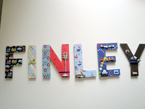 Personalized Nursery Letters Boys Room By Bearyspecialscrin