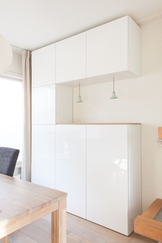 Attractive Esszimmer Schrank Ikea #14: Upgrading BESTA With Nordic-DIY-design Lighting, Glass Panels U0026 Oak Top -  IKEA Hackers. Esszimmer SchränkeHaus ...