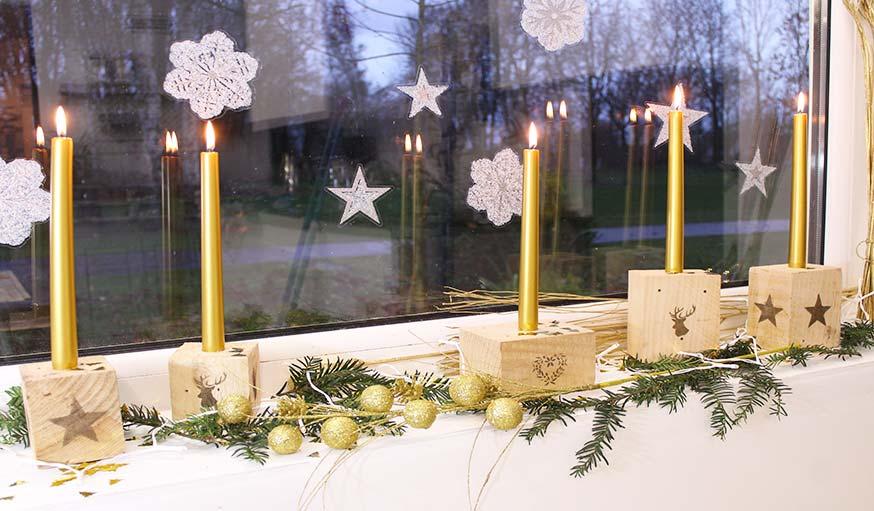 Pour Noël, illuminez votre maison avec des bougeoirs en palette, faciles à fabriquer
