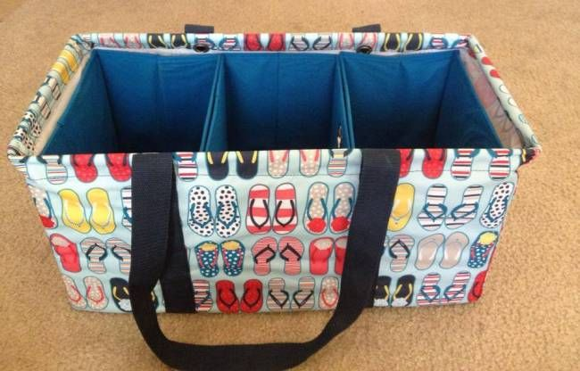 Large Utility Tote Paired With Dollar Store Bins Dollar Store
