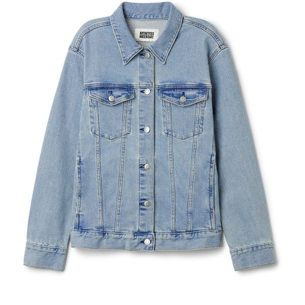 Double Denim Jacket Blue Vibe ❤ liked on Polyvore featuring outerwear, jackets, jean jacket, blue jean jacket, denim jacket, collar jacket and blue jackets