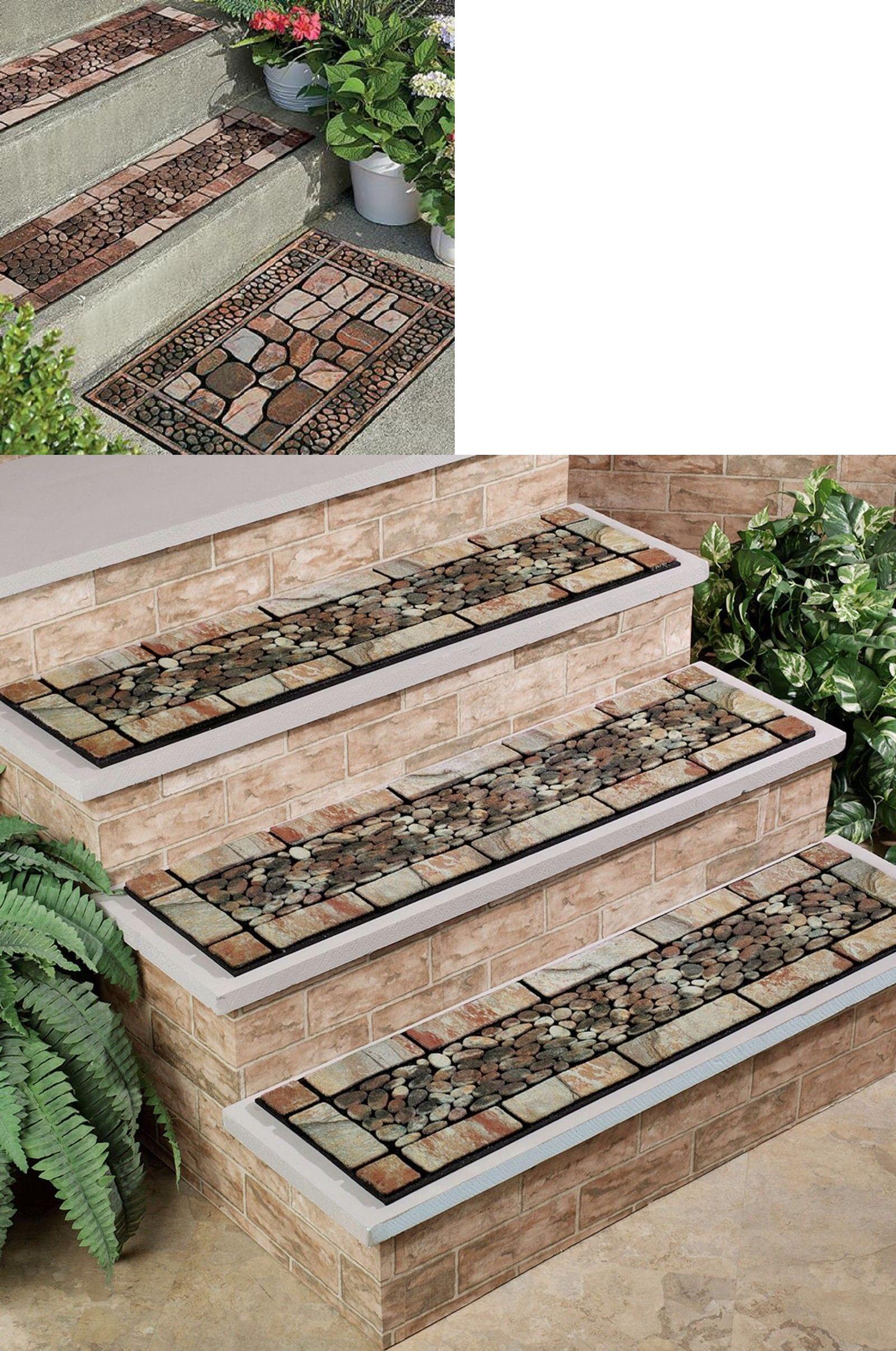 Stair Treads 175517 Outdoor Stones Door Mat Or Stair Treads | Outdoor Stone Stair Treads | Deck | Curved | Backyard | Unique | Stone Veneer
