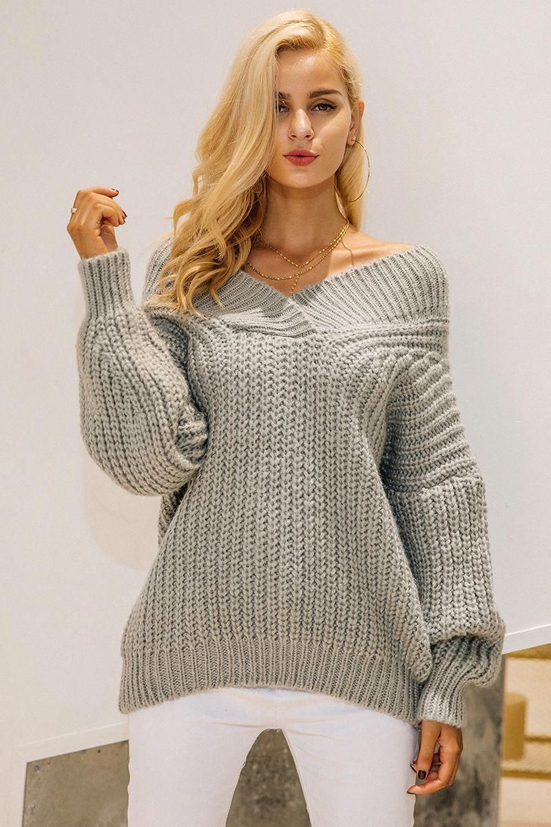 6fa8f891fbc $45.82 - Awesome Simplee Winter warm v neck knitted sweater jumper ...