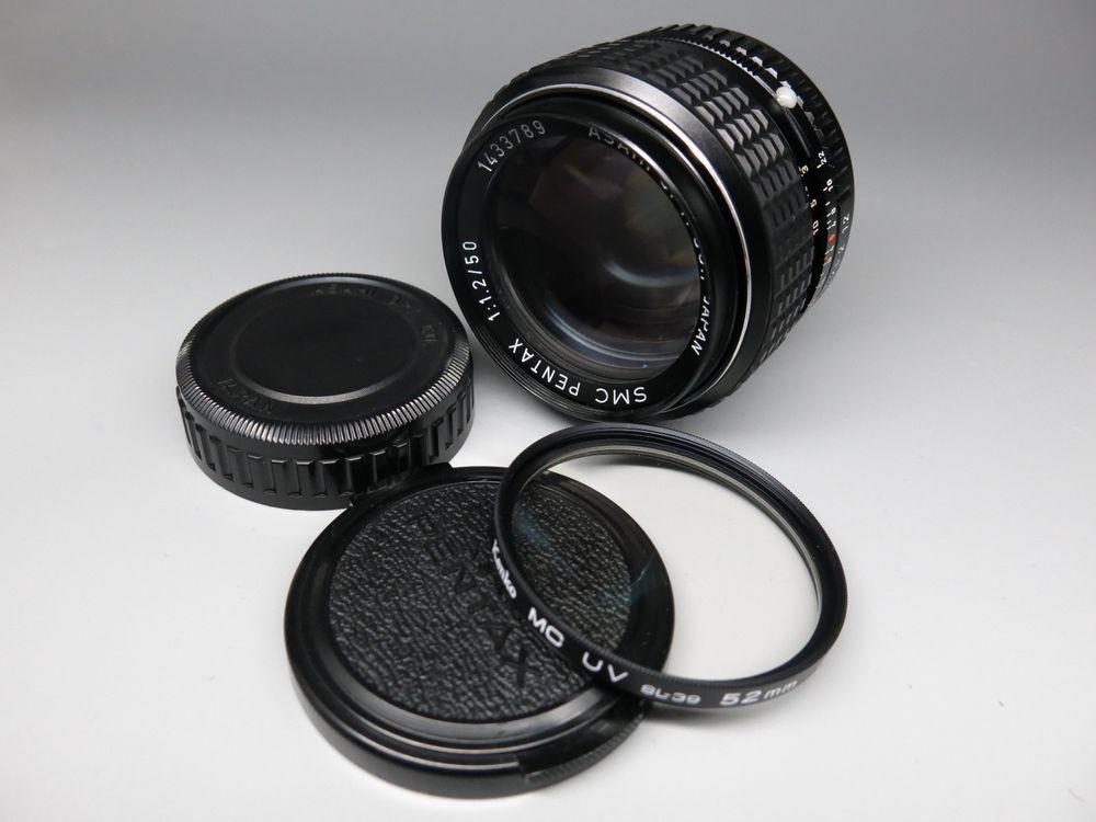 Asahi Pentax Smc 50mm F1 2 Lens For K Pk Mount Pentax Lens Lenses