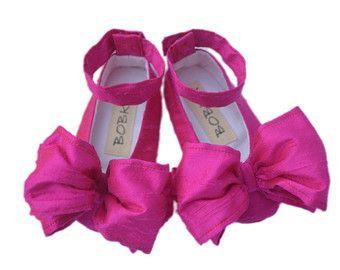 Bebé niña zapatos de Ballet clásico rosa regalo de satén