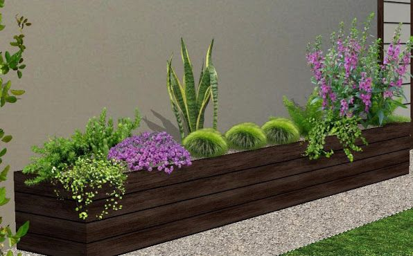 arreglos para jardineras  diseo de jardines 3D foto 3