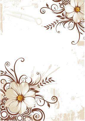 Formato Para Hojas De Block Arte Con Flores Fondos De